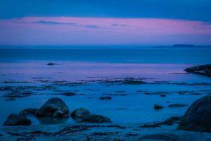 Art.nr 108 Etter solnedgang på Regestranda